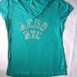 Blue Aeropostale V neck shirt